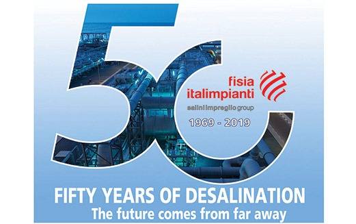 Fisia Italimpianti: 50 years of leadership in desalination in fight against water scarcity water for 20...